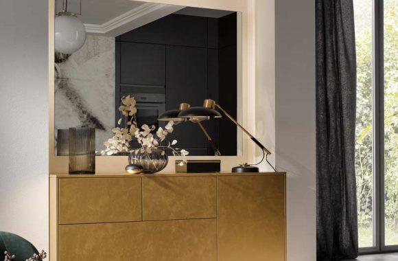 Küchentrends 2020 Antharazit und Goldlack im Miele Center Markant